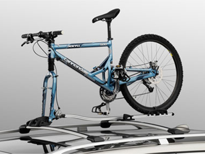 Cykelhållare i aluminium med gaffelmonerad
