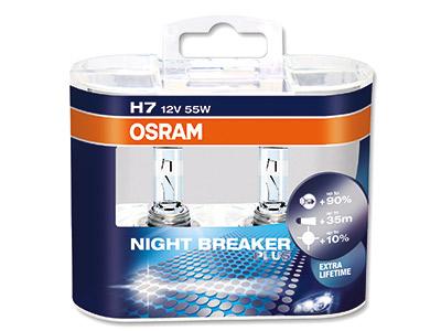 Osram H7-lampa night breaker duo