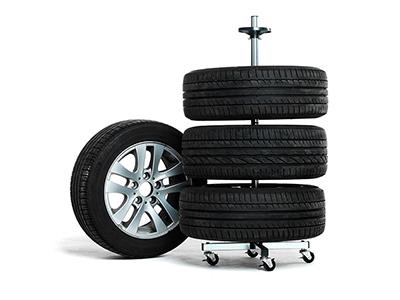 Däckställning på hjul