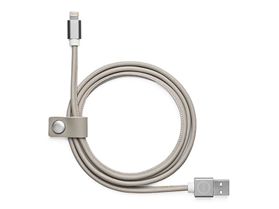 Leather charger cable