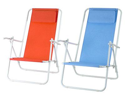 Strandstol med nackkudde