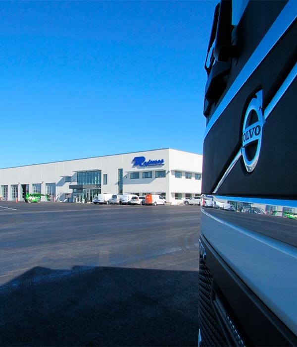 Nu möter vi kunden i framtidens lastvagnsanläggning på Berglunda!